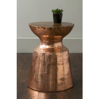 East At Main's Rake Copper Round Copper Accent Table