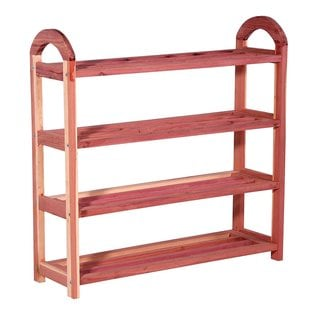 4-Tier Cedar Shoe Rack