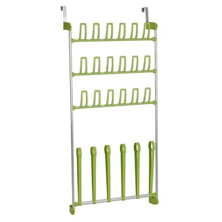 Lime Green Over-the-Door Shoe Storage Boot Rack
