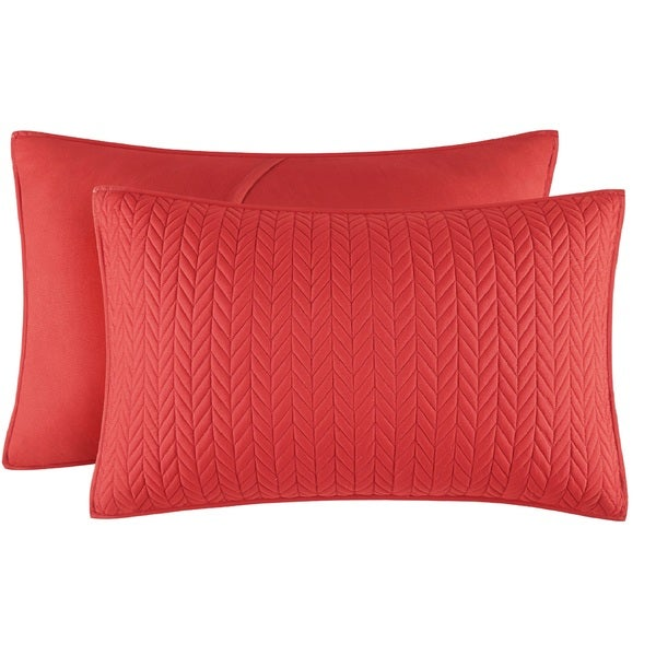 Five Queens Court Catori Tomato Quilted King-size Sham