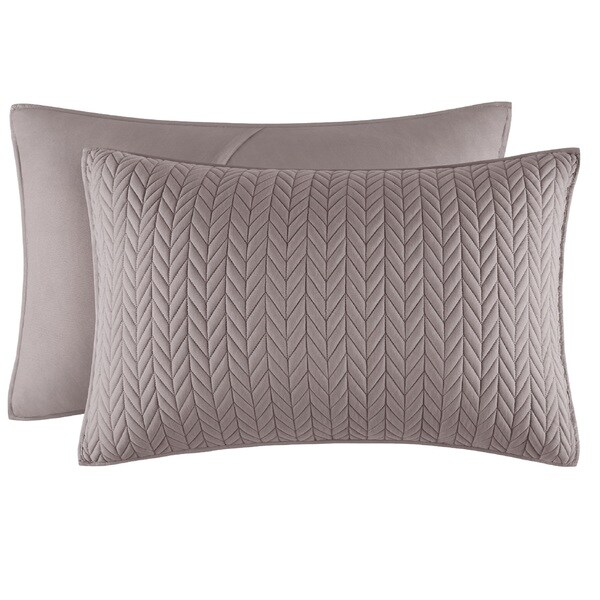 Five Queens Court Catori Charcoal Grey Quilted King-size Sham