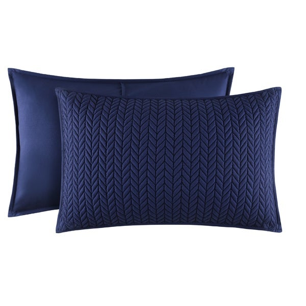 Five Queens Court Catori Indigo Quilted King-size Sham