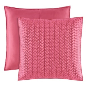Five Queens Court Catori Pink Quilted Euro Sham