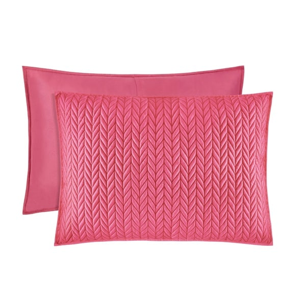 Five Queens Court Catori Pink Quilted Standard-size Sham