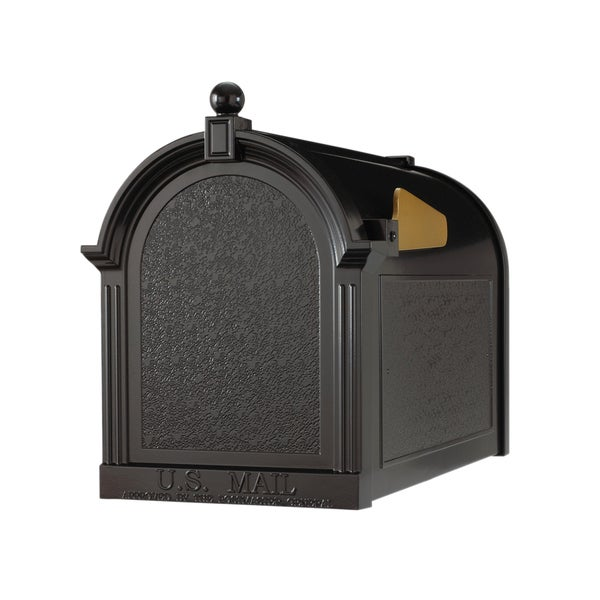 White Hall Home Outdoor Capital Black Mailbox