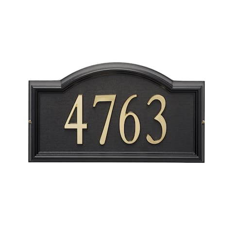 White Hall Home Outdoor Black Design-it 4-arch Plaque