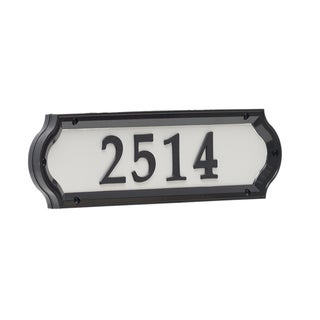 White Hall Nite Bright Richfield Home Address Sign