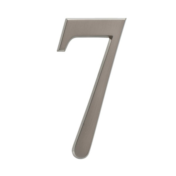 "White Hall 4.75"" Number 7 Brushed Nickel"