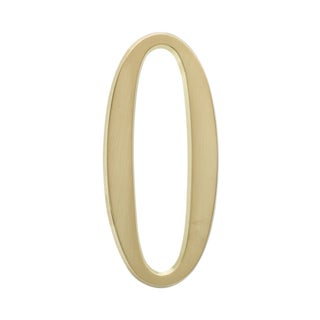 White Hall Home Outdoor Satin Brass 4.75-inch Number 0 Address Number
