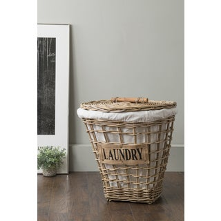 East At Main's Kingsport Brown Round Rattan Laundry Basket