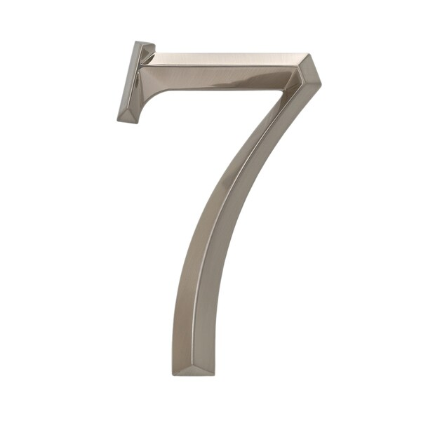 Whitehall Classic Polished Nickel 6-inch Number 7