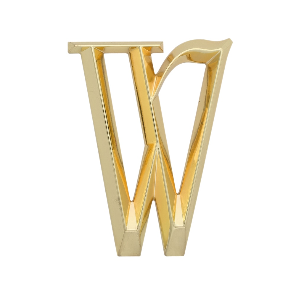 Whitehall Products Brass 6-inch Classic Letter W Sign (Br...