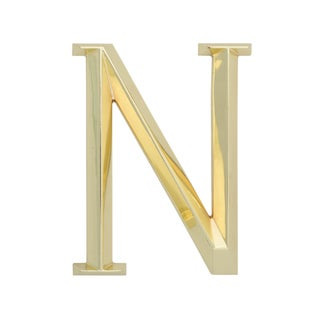 Whitehall Brass 6-inch Classic Letter N Sign