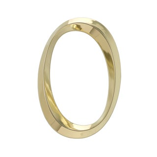 White Hall Classic Polished Brass 6-Inch Number 0 Address Numeral