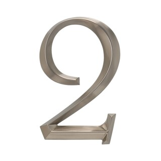 White Hall Polished Nickel 6-inch Classic Number 2 Address Number