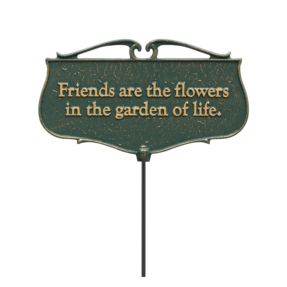 Whitehall Products White Hall 'Friends are the Flowers' G...