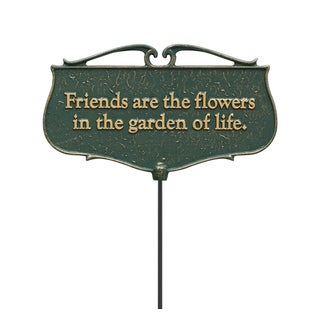 White Hall 'Friends are the Flowers' Garden Poem Sign