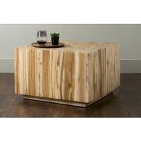 East At Main's Rolfe Brown Square Teakwood Coffee Table