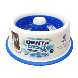 DentaDish Teeth Cleaning/Slow Feeding Dog Bowl