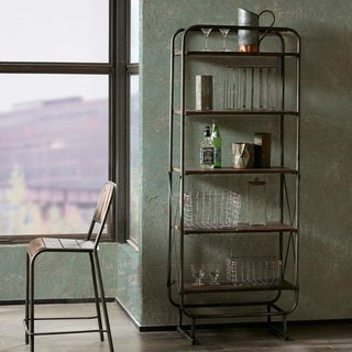 INK+IVY Renu Light Brown Multi/ Gunmetal Shelf