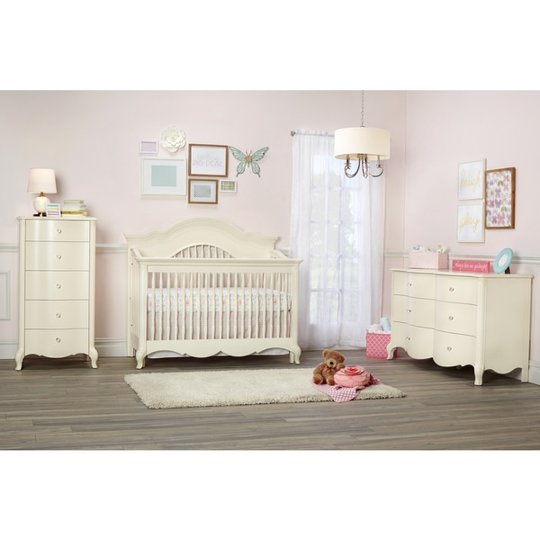 Suite Bebe Julia Lifetime 4-in-1 Crib- White Linen