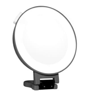 Rucci Soft Touch Hangable Lighted Suction Mirror