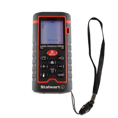 Stalwart Laser Distance Measuring Tool 100m Range & Backlight Display