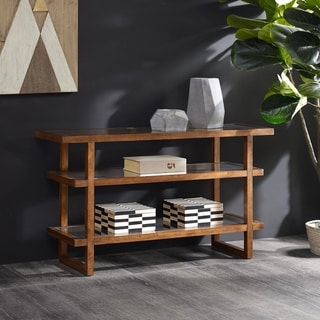 INK+IVY Metro Pecan Console Table