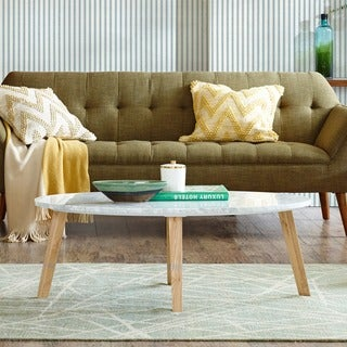 INK+IVY Milo White Coffee Table