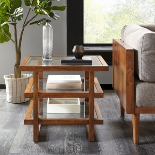 Strick & Bolton Melly Pecan End Table