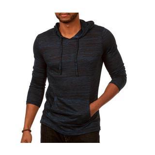 Something Standard Long Sleeve Pullover Hoodie in Dark Blue