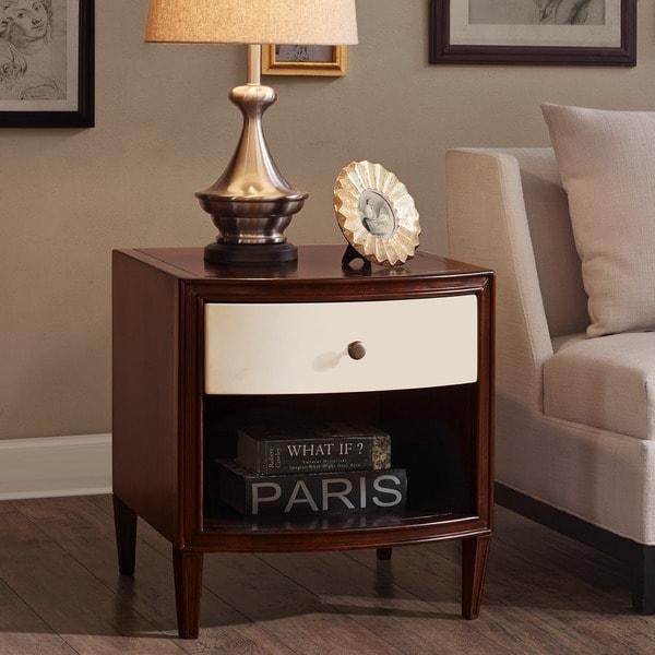 Madison Park Signature Dunkin Morocco Brown/ Ivory End Table