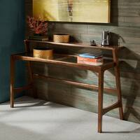 INK+IVY Rocket Pecan Console Table with Glass