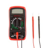 Digital Multimeter with Backlit LCD Display and Needle Probes- Amp, Ohm and Voltage Tester by Stalwart