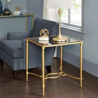 Madison Park Signature Turner Antique Gold End Table