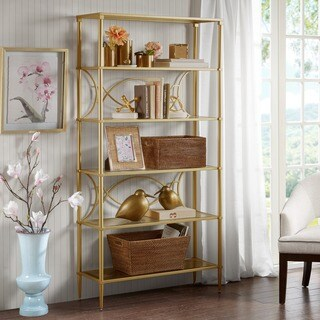 "Madison Park Signature Turner Shelf 2-Color Option - 36""w x 14""d x 72.5""h"
