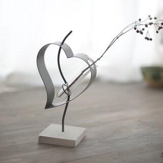 Metal 'Love' Vase