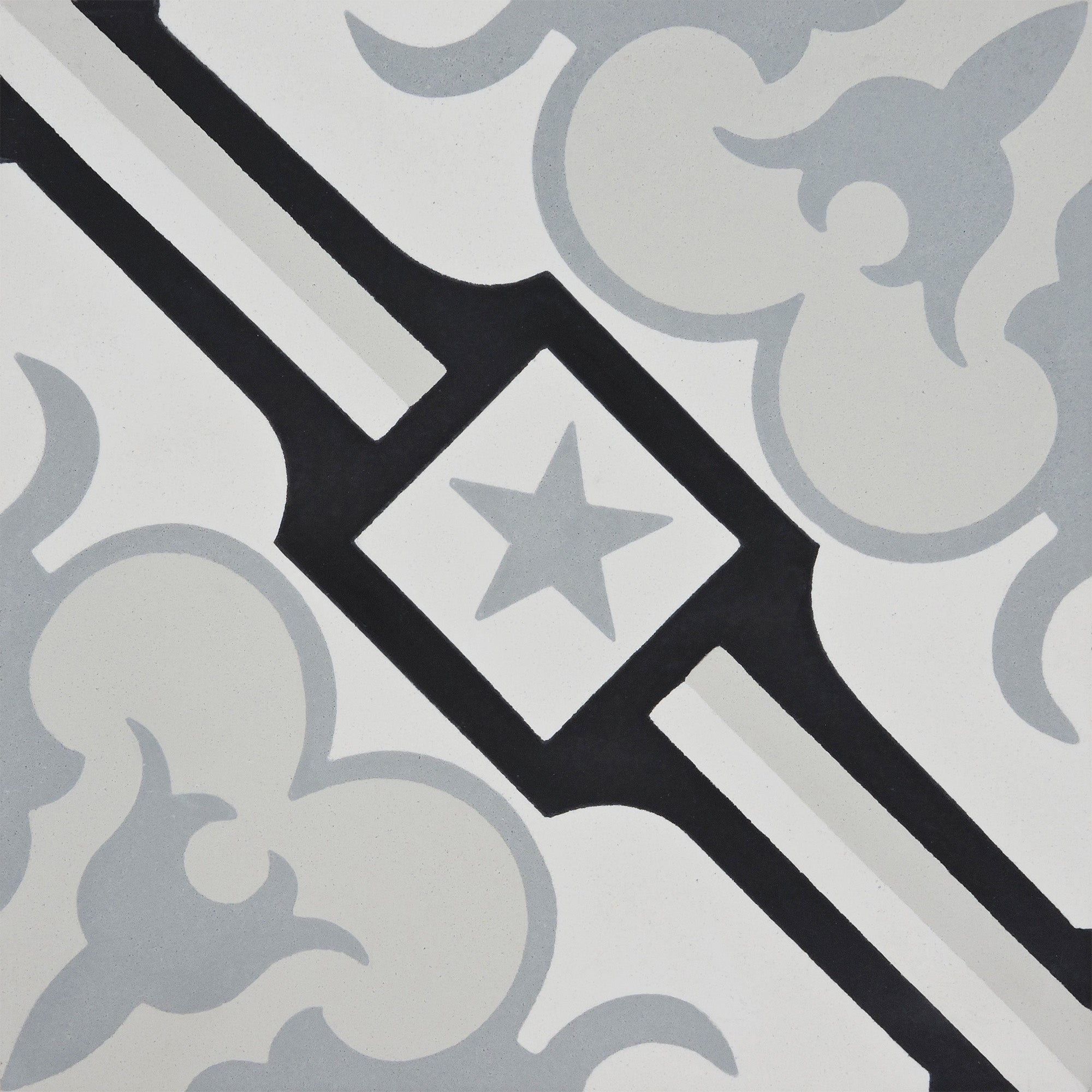 Handmade Chala In Black And Greys Tile Pack Of 12 Morocco Overstock 14080641