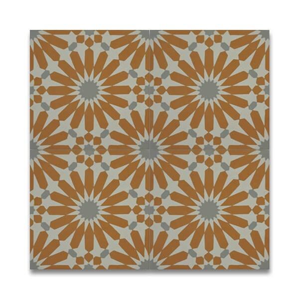 Shop Alhambra 12 Pack Gold White Handmade Moroccan Tiles