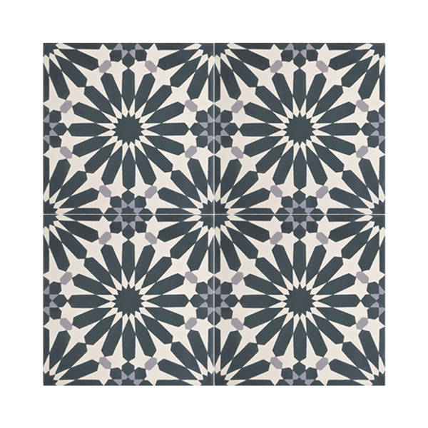 Alhambra Blue And White Handmade Moroccan 8 X Inch Cement Granite Floor Or Wall