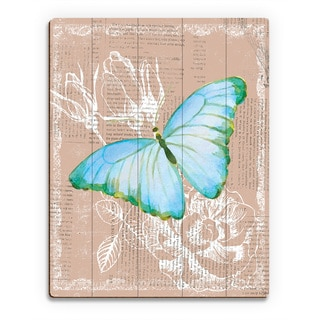 Multicolored Wood Butterfly Wall Art Print