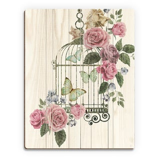 'Butterfly Cage' Wood Wall Art