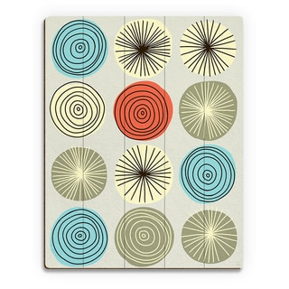Circle Explosion Wall Art Print on Wood
