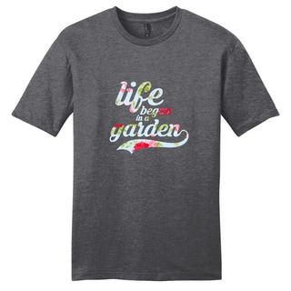 Life Began in a Garden-Motivational Unisex T-Shirt (Ohio)