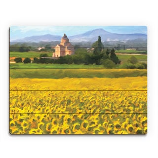 'Provence Sunflowers' Wood Wall Art Print