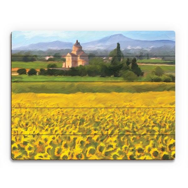 Kathy Ireland 'Provence Sunflowers' Wood Wall Art Print