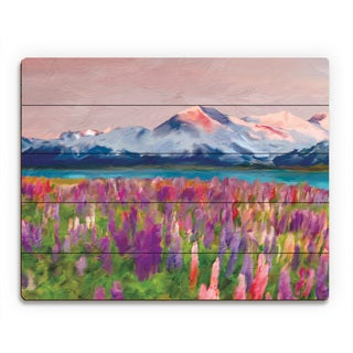 'Colorful Wildflowers' Wood Wall Art Print