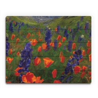 'Alps Flowers' Wood Wall Art Print