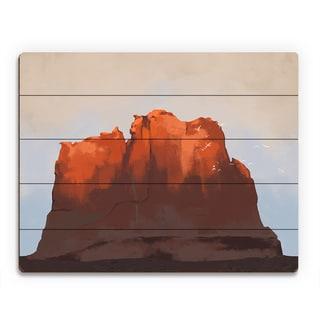 'Southwest Sunset' Birchwood Wall Art Print