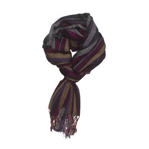 Handmade In-Sattva Colors Vertical Stripes Scarf Stole Wrap (India)